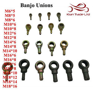 Assorted-Banjo-Unions-Various-Size-Fitting-Fuel-Hose-M6-M8-M10-M12-M14-M16-M18