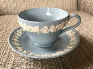 WEDGWOOD - CREAM ON LAVENDER  -SHELL EDGE - CUP & SAUCER- 12 AVAIL - MINT.....