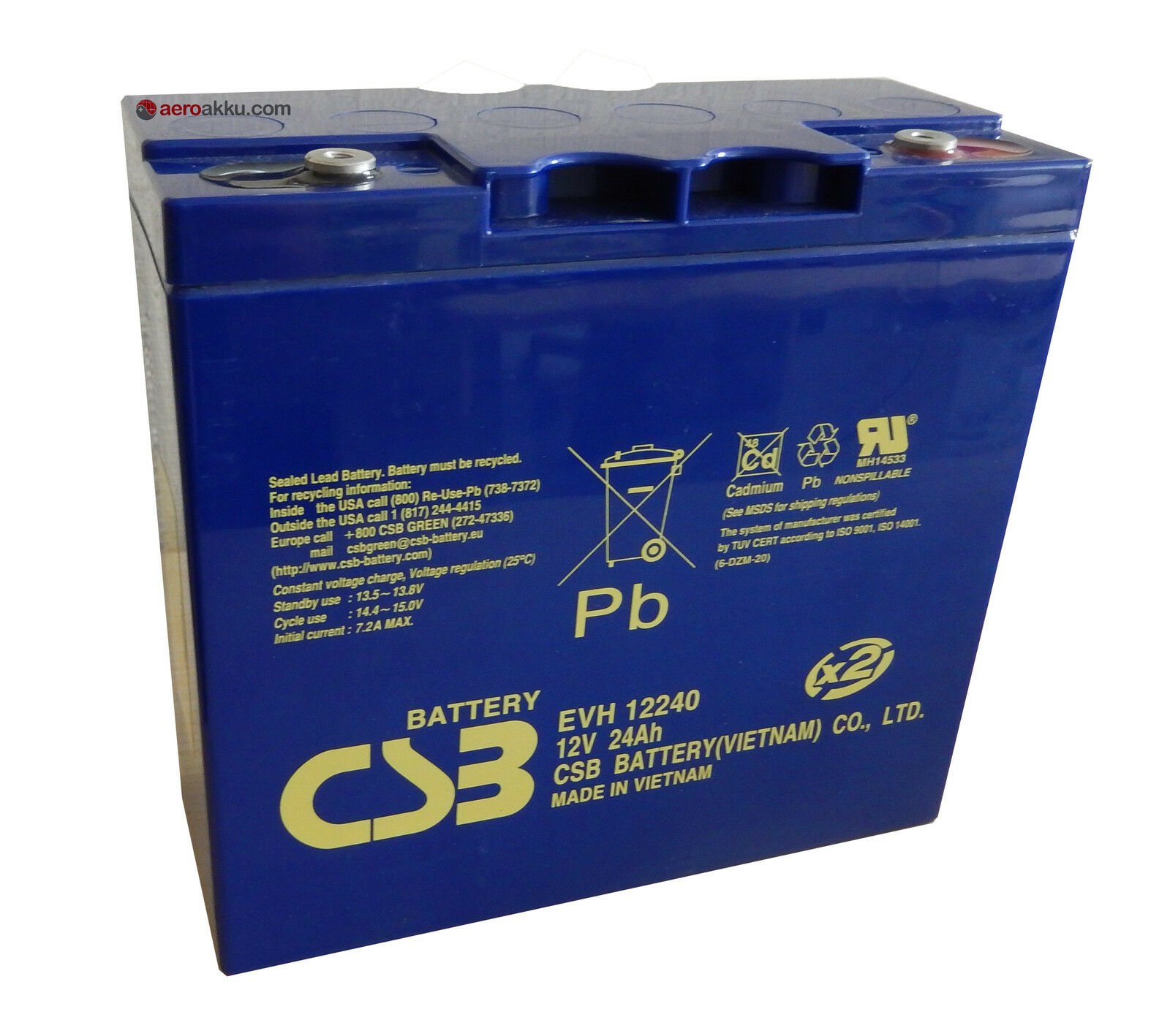 PC680 Hitachi CSB EVH 12240 AGM Akku 12V 24Ah Odyssey wie Odyssey 24Ah PC680 Genesis 12EP16 611619
