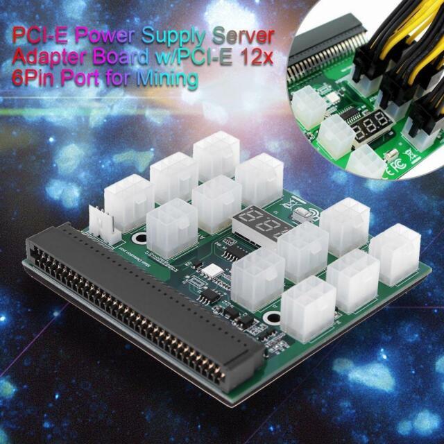 12X 6Pin Power Supply Adapter HP Server GPU 12V Breakout Board Converter  800GB A