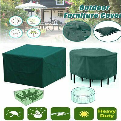 Large Square Waterproof Outdoor Garden Patio Table Chair Furniture Seater Cover