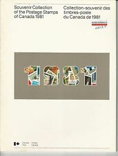 Souvenir Collection of The Postage Stamps of Canada 1981 MNH Book (LN137)