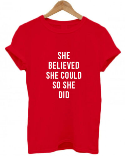 féminisme Unisexe T Shirt GRL PWR donc elle a fait Elle croyait qu/'elle a féministe