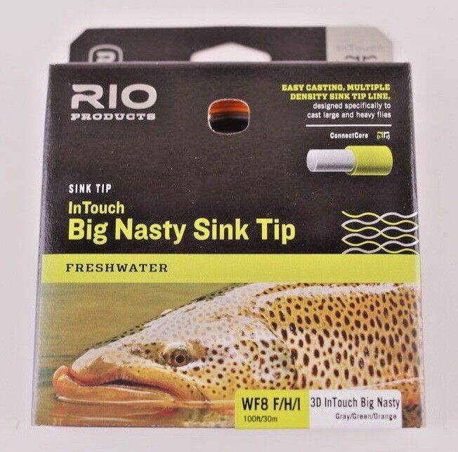 Rio gree Nasty Sink Tip WF8 FHI Fly Line gratuito FAST SHIPPING 621537