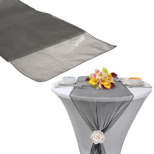 "30*275CM Hot Sheer Organza Table Runner Party Decor Wedding Supply DIY 12/""X 108/"""