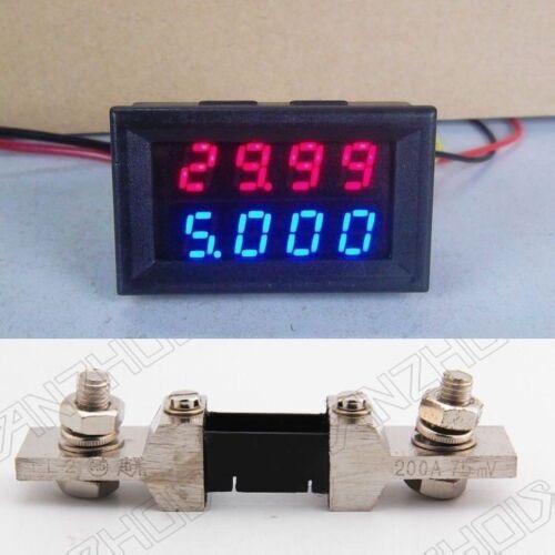 Shunt Digital LED Voltmeter Amperemeter Spannungsmeter Ammeter DC 100V 200A