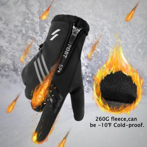 30℃ Waterproof Winter Ski Gloves Touch Screen Warm Mittens Snow Snowboarding US