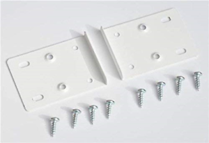 WHITE KITCHEN CUPBOARD DOOR HINGE REPAIR KIT INCLUDES 10 PLATES AND FIXING
