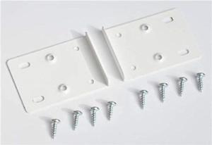 Blanc Cuisine Armoire Charnière de porte Kit de réparation comprend 10 plaques et fixation