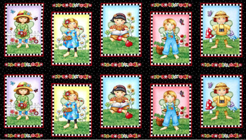 """QUILT PANEL Quilting Treasures ~ MARY/'S FAIRIES ~ by Mary Engelbreit  24/"""" X 45/"""""""
