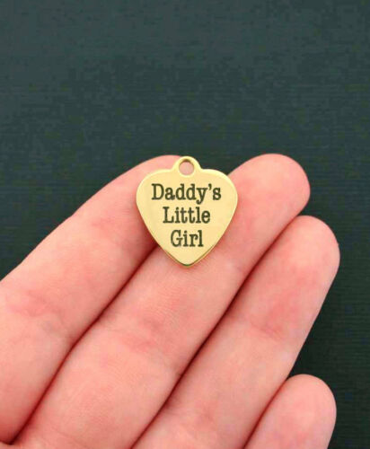Quantity Options Daddys Little Girl Stainless Steel Charm BFS87GOLD