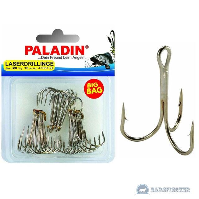 Paladin BIG BAG Laserdrillinge gunsmoke 1//0 1//2//4//6//8//10 Drilling Angel-Haken