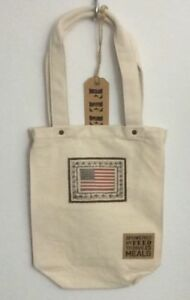 NWT-FEED-10-Charity-Flag-Ivory-Cotton-Open-Tote-Bag