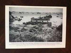 1945-vintage-Original-magazine-photo-Supplies-For-Invasion-Of-Okinawa-WWII