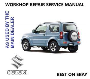 suzuki jimny workshop repair service technical manual 1998 2009 cd rh ebay co uk suzuki jimny workshop manual suzuki jimny workshop manual haynes for sale