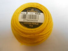 "DMC Perle 8 Cotton Ball Colour Yellow ""444"""