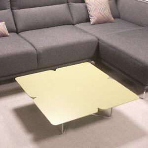 Couchtisch Rolf Benz Freistil 195 Design Kleeblatt 79x79 Grauolive