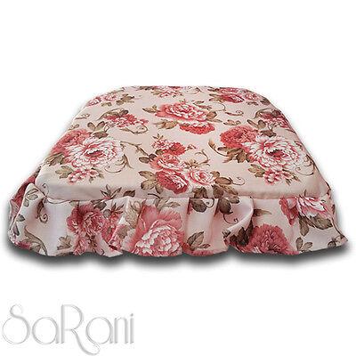 Coppia Cuscini Copri Sedia con Lacci Fantasia Fiori Rosa Cuscino Elegante SARANI | eBay