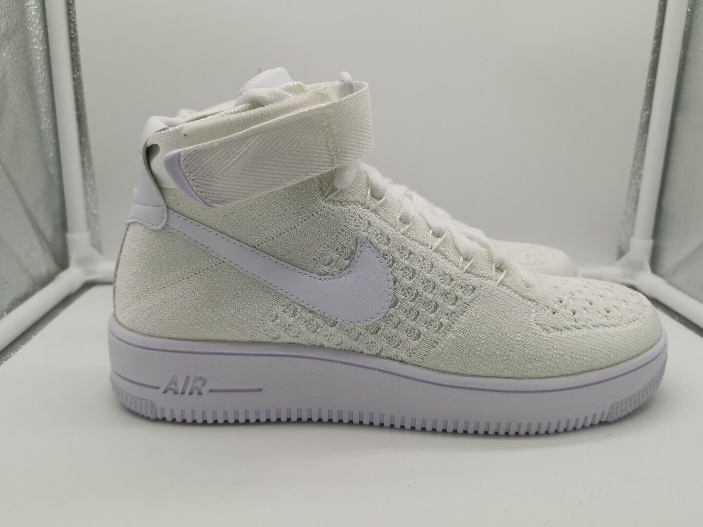 Nike Air Force 1 AF1 Ultra Flyknit Mid Triple White 817420-102