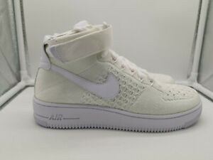 ea5921eec5be Nike Air Force 1 AF1 Ultra Flyknit Mid UK 6 Triple White 817420-102 ...