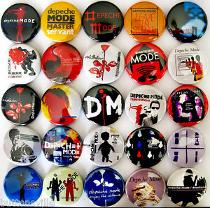 DEPECHE-MODE-Pins-Button-Badges-Songs-of-Faith-and-Devotion-New-Wave-Lot-of-25