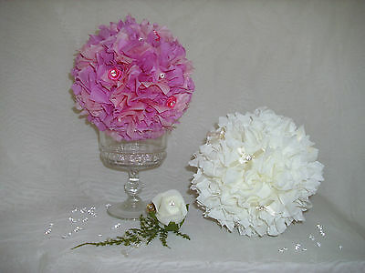 FLOWER ROSE BALL/POMANDER WEDDING TABLE CENTREPIECE DECORATION
