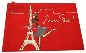 French-Chic-Girl-in-Beret-EIFFEL-TOWER-Purple-I-LOVE-PARIS-Wallet-Bag-from-PARIS