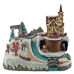 Spieluhr Weihnachten.Details Zu Spieluhr Weihnachten Winterlandschaft Mit Beleuchtung Led Melodie Winterszene