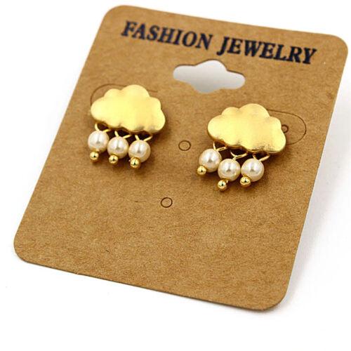 Frauen-Legierungs-Wolken-Kristallregen-Tropfenfaux-Perlen-Anhänger-Ohrringe OX