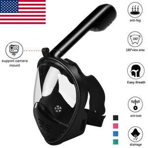 Anti-Fog-Swimming-Diving-Full-Face-Mask-Breath-Snorkel-Scuba-for-GoPro-Adult-Kid