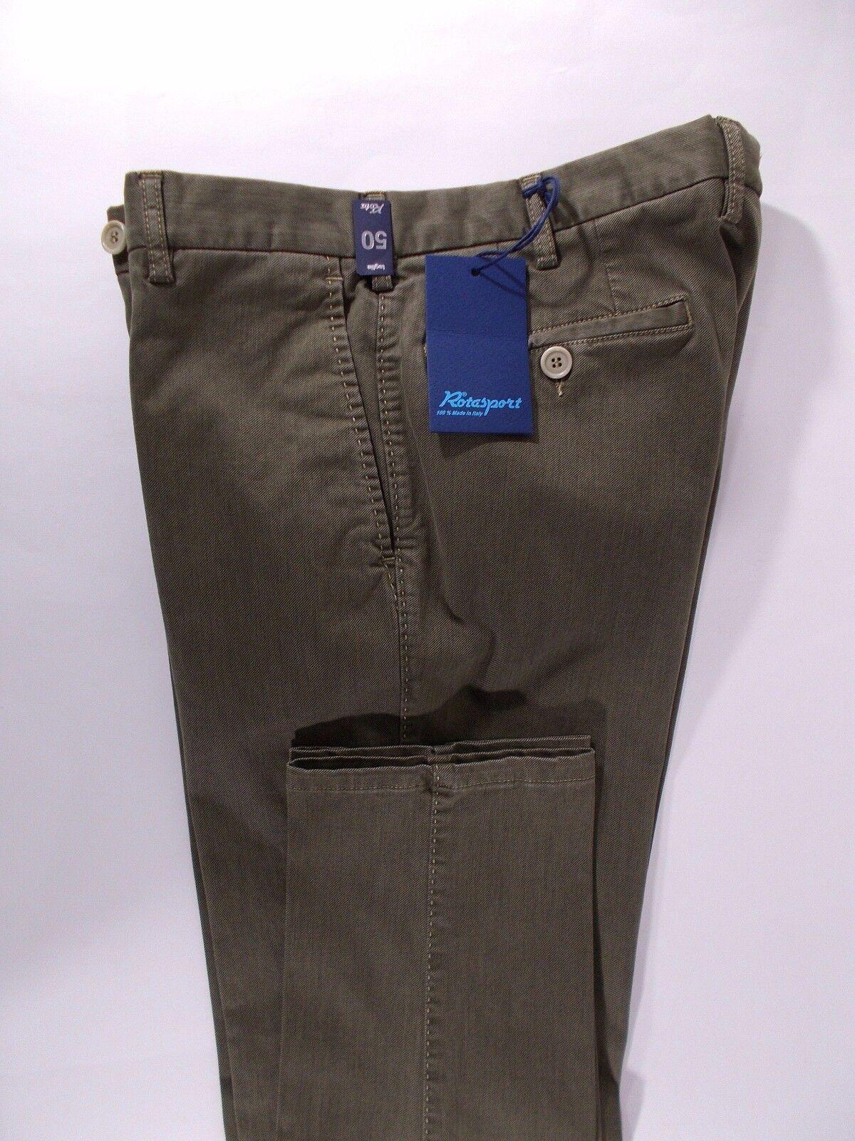 ROTA pantalone uomo uomo uomo SPORTIVO cotone comfort FUSTAGNO verde A I tg. 52-58-62(IT) bfac90