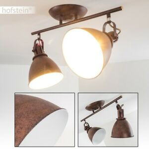 vintage spot schlaf wohn zimmer lampe flur diele k chen decken leuchte rostbraun ebay. Black Bedroom Furniture Sets. Home Design Ideas