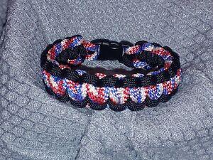 Patriotic / Black Paracord Bracelet