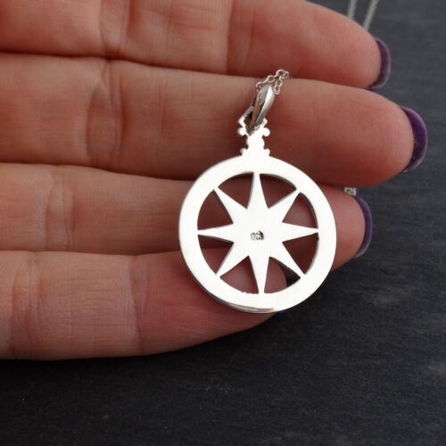 Pendant Graduation Gift NEW North Star Compass Necklace 925 Sterling Silver