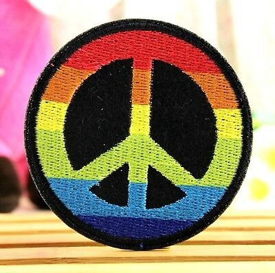 FD3611 DIY Peace Peaceful Badge Applique Embroidered Sticker Sewing Patch 1pc