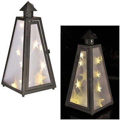 Affidabile Lanterna Con Holografie-diapositiva (stella Luce Effetto) Con 12 Caldo Led Bianchi Lantern-ie (sternlichteffekt) Mit 12 Warm-weißen Leds Lantern It-it