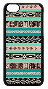 Aztec-Tribal-Geometric-for-iPhone-4-4s-5-5s-5c-6-Retro-vintage-Case-Black