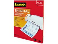 Scotch Tp3854100, Letter Size Thermal Laminating Pouches, 3 Mil, 11 1/2 X 9, 100 on sale