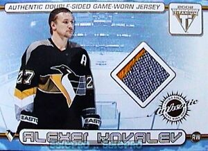 PACIFIC-TITANIUM-2001-RICH-PARENT-ALEXEI-KOVALEV-RARE-DUAL-PLAYER-GAME-JERSEY-3C