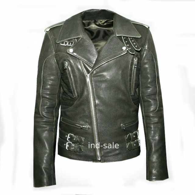 Oil Pull leather Custom Tailor Made Distressed Thick Jacket Biker Cross ZIP