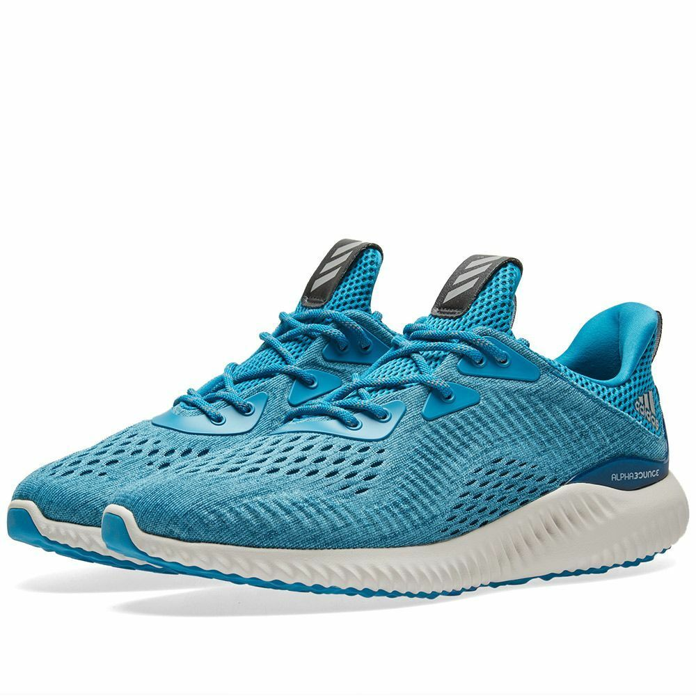 Womens ADIDAS ALPHABOUNCE EM RUNNING SHOES bluee Sneakers BW1120 NEW