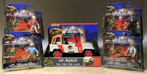 Jurassic Park Collection World Legacy Ensemble Malcom Sattler Muldoon Grant Jeep Nouveau