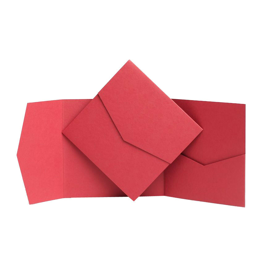 Pocketfold Mariage Invitations Portefeuille invite Poche Cartes Craft Pack Pack Pack Papeterie | Belle Qualité  e369fb