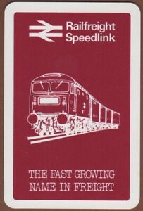 Playing-Cards-1-Single-Card-Old-RAILFREIGHT-SPEEDLINK-Train-Freight-Advertising