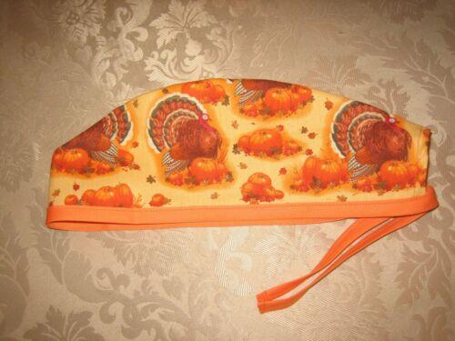 Surgical Scrub Hats//Cap  Thanksgiving Turkeys