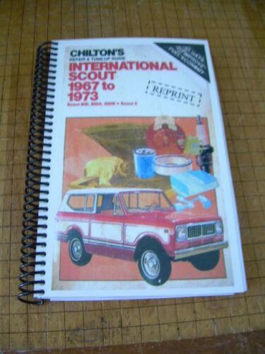 INTERNATIONAL SCOUT 1967 1973 Repair Manual Truck guide Maintenance Chilton/'s ii