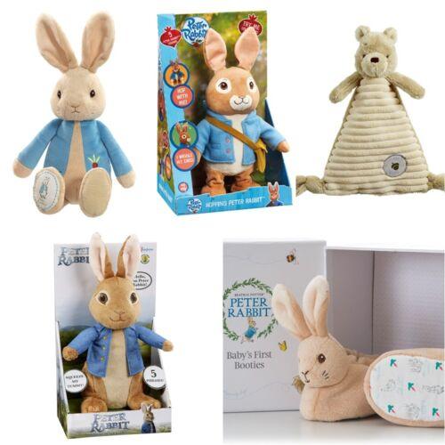 Talking /& Hopping /& Winnie the Pooh Peter Rabbit Soft Plush Toy Booties Set