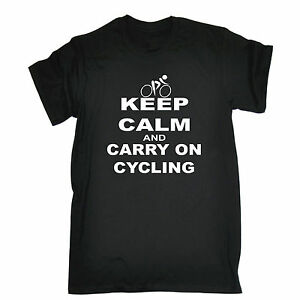 KEEP-CALM-AND-CARRY-ON-CYCLING-T-SHIRT-bike-rider-funny-birthday-gift-present