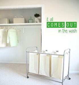 Tutto torna fuori, lavare, lavanderia, Utility, bagno Muro ARTE Adesivo Decalcomania In Vinile  </span>