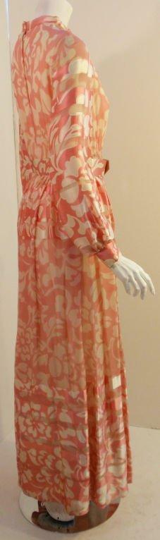CEIL CHAPMAN 1960s Pink and White Silk Chiffon Go… - image 6